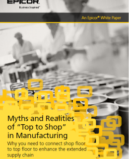 "Myths and Realities 260x320 - Myths and Realities of ""Top to Shop"" in Manufacturing"