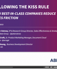Following the KISS Rule Webinar 190x230 - Following the KISS Rule: How Best-in-Class Companies Reduce Sales Friction