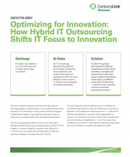 Optimize IT for Innovation by Shifting to Hybrid IT Outsourcing