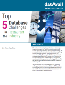 Datavail Restaurant Cover 230x300 - Top 5 Database Challenges in Restaurant Industry