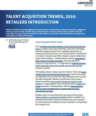 481553 Retail Aberdeen Talent Acquisition Trends 2016 Retailers Introduction cover 190x230 - Aberdeen Talent Acquisition Trends, 2016: Retailers Introduction