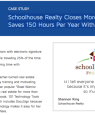 Screen Shot 2016 10 15 at 12.39.54 AM 190x230 - Schoolhouse Realty Closes More Deals Faster, Saves 150 Hours Per Year With DocuSign