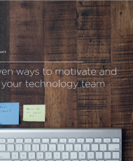 5proven 190x230 - 5 proven ways to motivate and retain your technology team