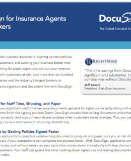 DocuSign for Insurance Agents and Brokers