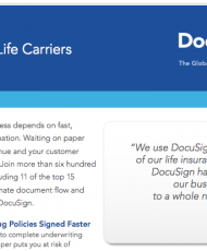 DocuSign for Life Carriers