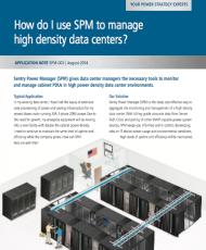 How do I use SPM to manage high density data centers?
