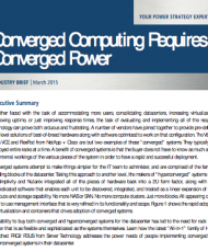 Converged Computing Requires Converged Power