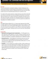 Symantec SSL Certificates with the DSA Algorithm – Data Sheet