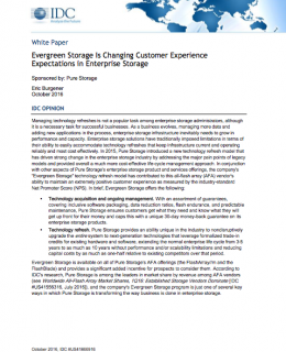 IDC: Evergreen Storage Is Changing Customer Experience Expectations in Enterprise Storage