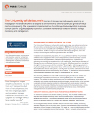 University of Melbourne Customer Case Study