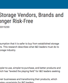 Large Established Storage Vendors, Brands and Products Are No Longer Risk-Free