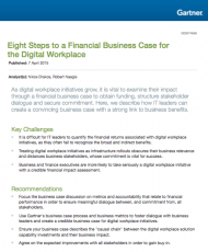Eight Steps to a Financial Business Case for the Digital Workplace