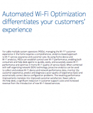 Automated Wi-Fi Optimization differentiates your customers' experience