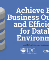 Achieve Better Business Outcomes and Efficiencies for Database Environments