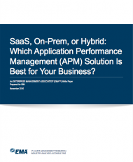 SaaS, On-Prem, or Hybrid: Which Application Performance Management (APM) Solution is Best for Your Business?