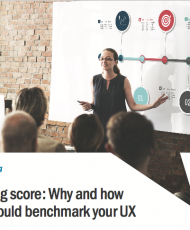 Keeping score: Why and how you should benchmark your UX