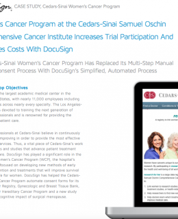 CASE STUDY – Cedars-Sinai Women's Cancer Program