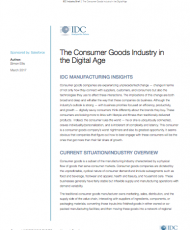 The Consumer Goods Industry in the Digital Age