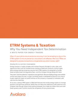 ETRM Systems & Taxation