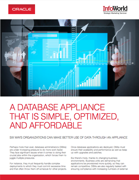 InfoWorld and Oracle White paper: A Database Appliance That