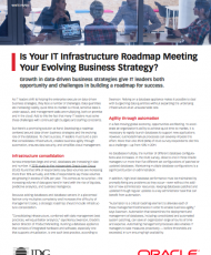 White paper: Is Your IT Infrastructure Roadmap Meeting Your Evolving Business Strategy?