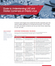 Guide to Understanding LXC and Docker Containers on Oracle Linux