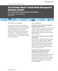 Lithium Named a Leader in The Forrester Wave: Social Media Management Solutions, Q2 2017