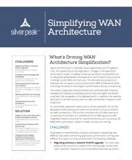 Simplifying WAN Architecture