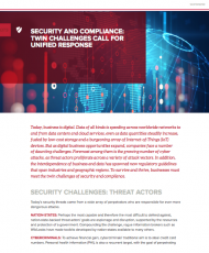 SECURITY AND COMPLIANCE: TWIN CHALLENGES CALL FOR UNIFIED RESPONSE