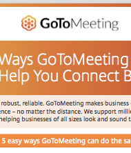 5 Ways GoToMeeting Can Help You Connect Better