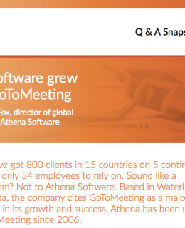 How Athena Software grew globally with GoToMeeting