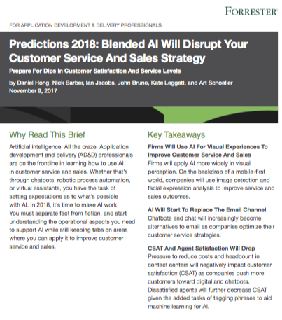 Screen Shot 2018 01 24 at 6.54.55 PM - Forrester Predictions 2018: Blended AI Will Disrupt Your Customer Service And Sales Strategy