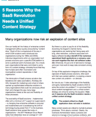 5 Reasons the SaaS Revolution Needs a Unified Content Strategy