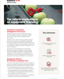 New tax rules require fresh analysis for equipment financing