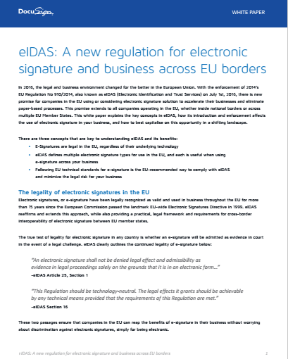 3 1 - eIDAS: A new regulation for electronic signature and business across EU borders