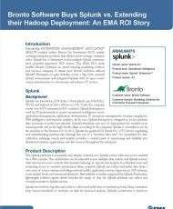 Bronto Software Buys Splunk versus Extending their Hadoop Deployment