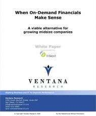 Increasing ROI with On-Demand Financials