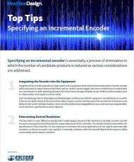 6 Tips for Specifying an Incremental Encoder