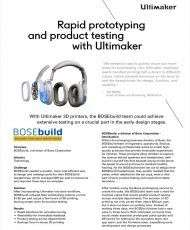 Rapid prototyping and product testing with Ultimaker