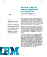Advance to the Next Level of Data Security and Compliance