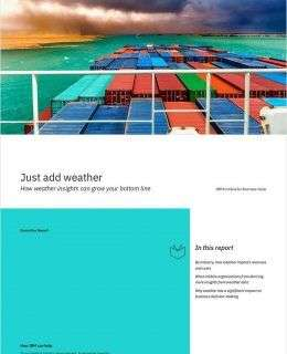 Just Add Weather - How Weather Insights Can Grow Your Bottom Line