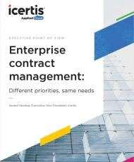 Enterprise Contract Management: A C-Suite Round Table