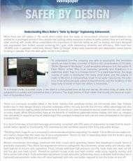 Safer By Design: Understanding Miura Boiler's Safer by Design Engineering Achievement