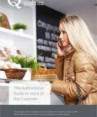 Authoritative Guide to the Voice of the Customer