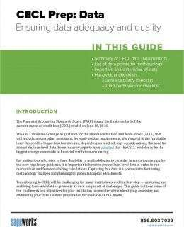 CECL Prep: How to Ensure Data Adequacy and Quality