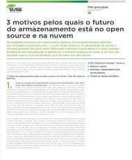 3 Motivos Pelos Quais o Futuro do Armazenamento está No Open Source e na Nuvem