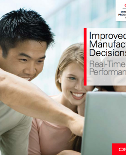 Improved Manufacturing Decisions, Real-Time Factory Performance