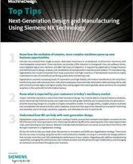 Next-Generation Design and Manufacturing Using Siemens NX Technology
