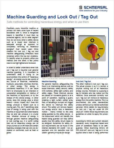 Machine Guarding and Lock Out / Tag Out - Paperpicks Leading Content