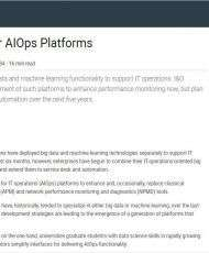 Market Guide for AIOps Platforms